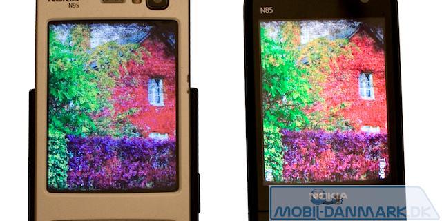 Til venstre Nokia N95 og til højre N85