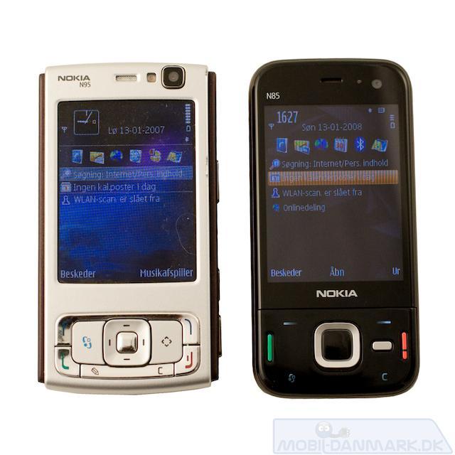 Nokia N95 og N85 ved siden af hinanden