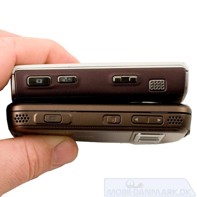 N85 ser noget tyndere ud en Nokia N95