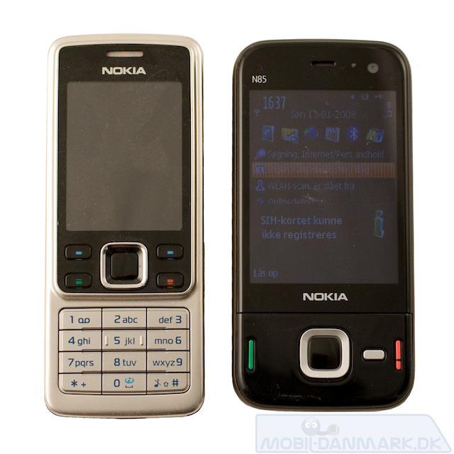 N85 ved siden af Nokia 6300
