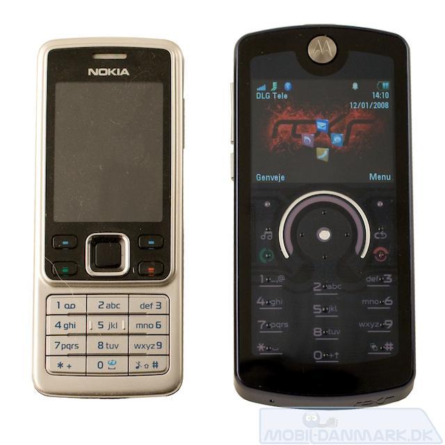 E8 ved siden af Nokia 6300