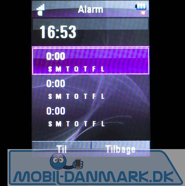 Alarmmenuen