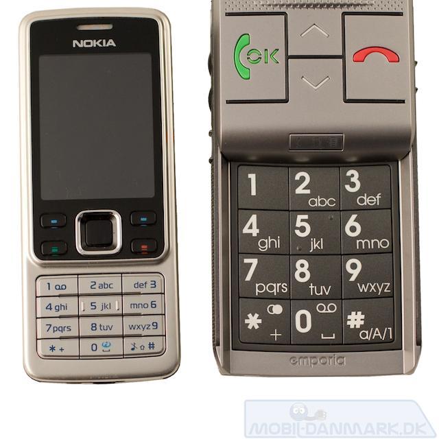 Life+'s taster set i forhold til Nokia 6300