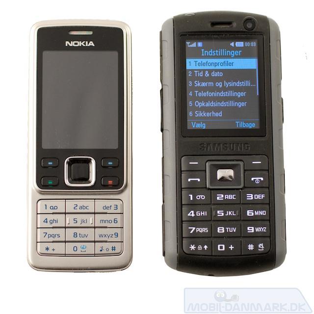 B2700 ved siden af Nokia 6300