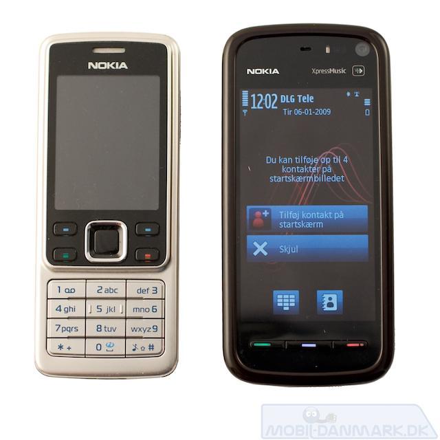 5800 ved siden af Nokia 6300