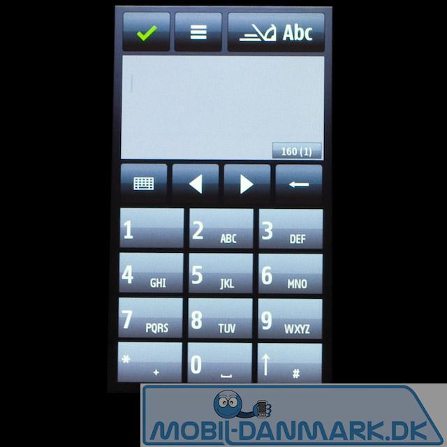 SMS-menuen
