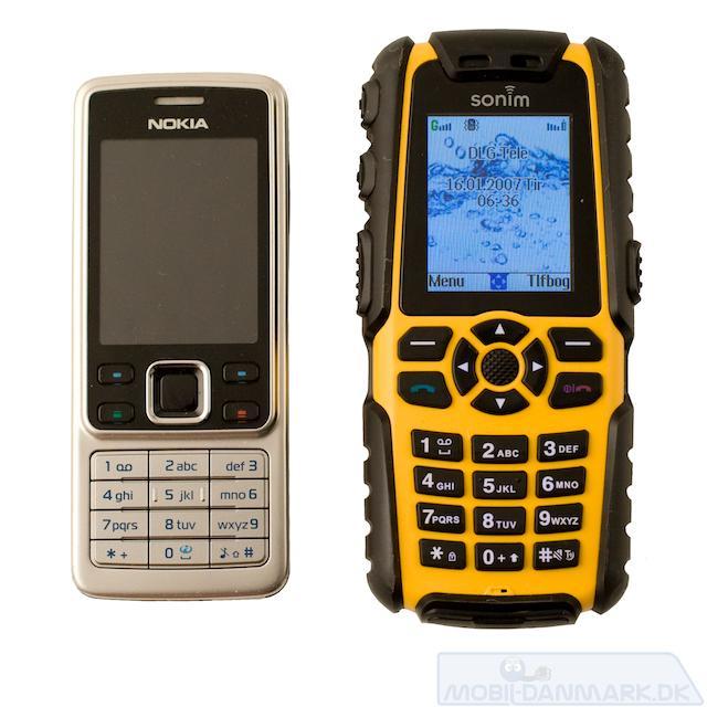 XP3 ved siden af Nokia 6300