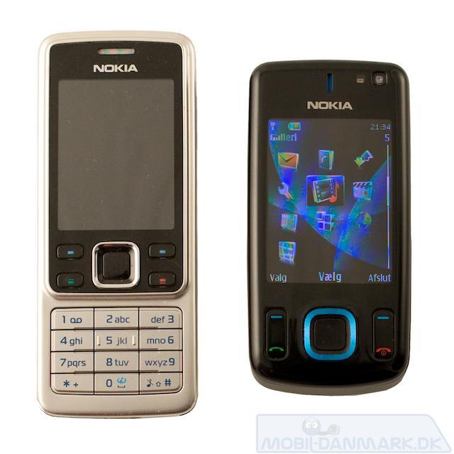 6600 Slide ved siden af Nokia 6300