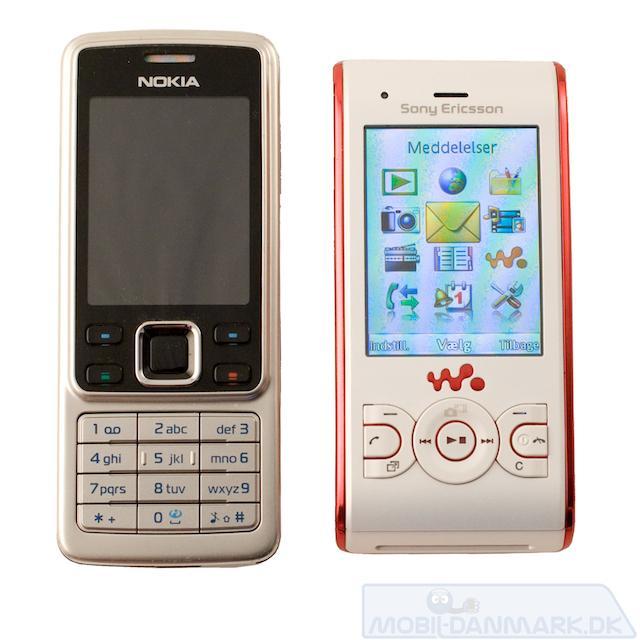 W595i ved siden af Nokia 6300
