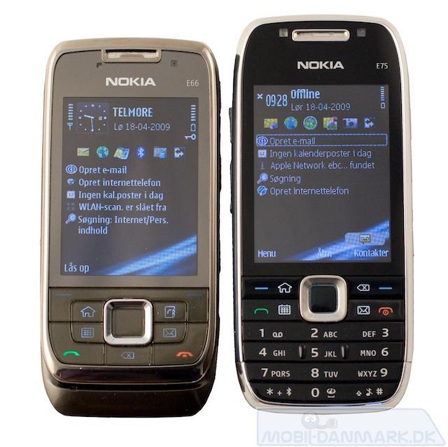 E75 ved siden af Nokia E66