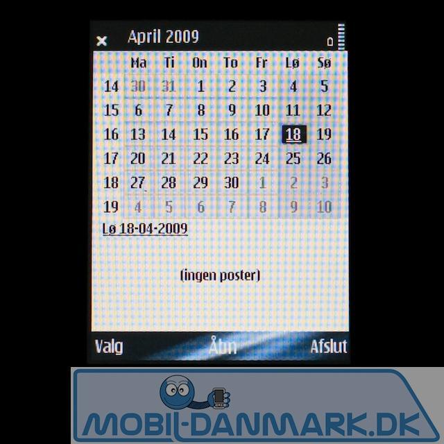 Alle E-modellerne har en god kalender