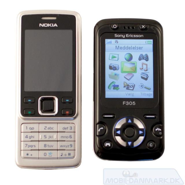 F305 ved siden af Nokia 6300