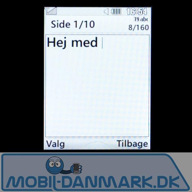 SMS-delen med stor skrift