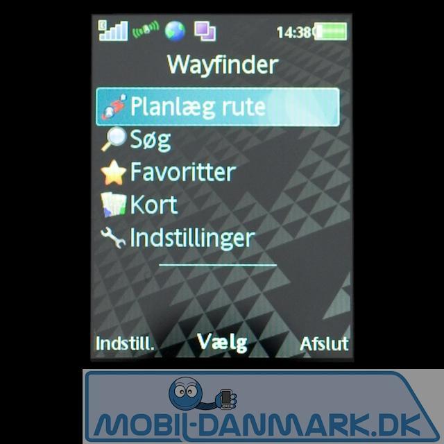 Wayfinder-menu