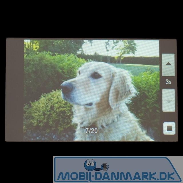 Fotofremviser i slideshow-funktion