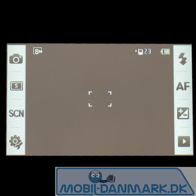Kameramenuen med genveje i begge sider