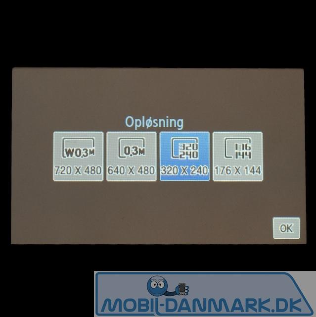 Videokvalitetsindstillinger