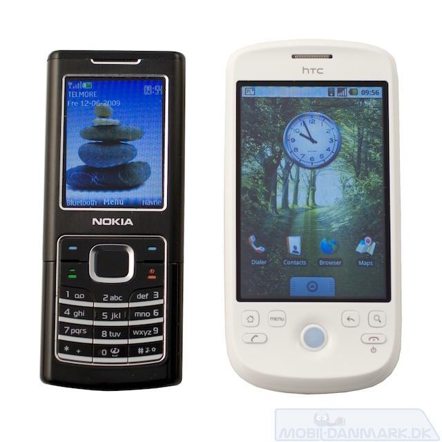 Magic ved siden af Nokia 6500