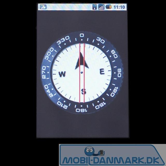 Ganske fint og nøjagtigt kompas