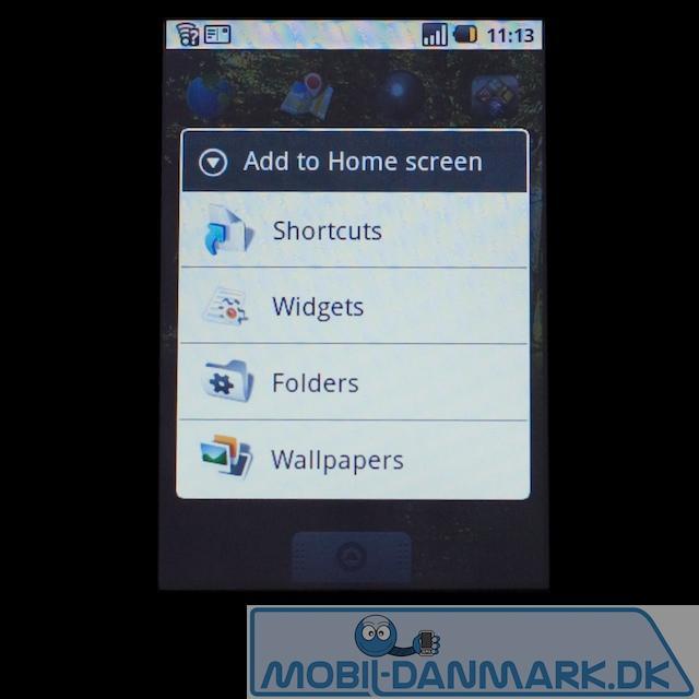At ændre på home screen er ganske nemt