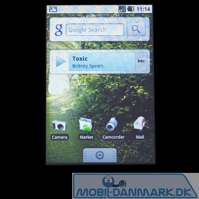 Home screen til højre med widgets