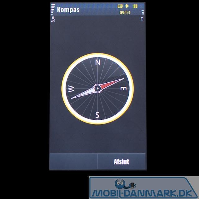 Omnia HD har digitalt kompas