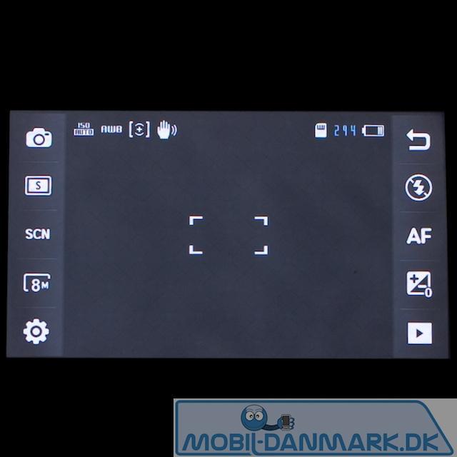 Kameramenuen med 10 genvejsknapper