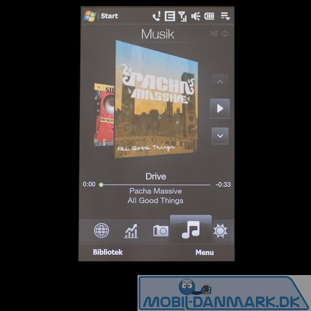 Musikafspilleren i TouchFlo