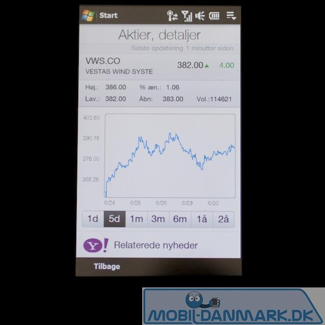 Et mere detaljeret kig på en aktie