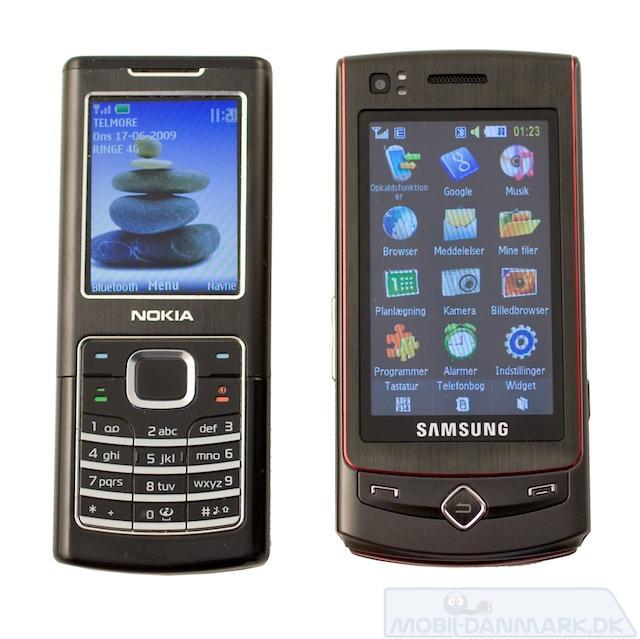 S8300 ved siden af en Nokia 6500