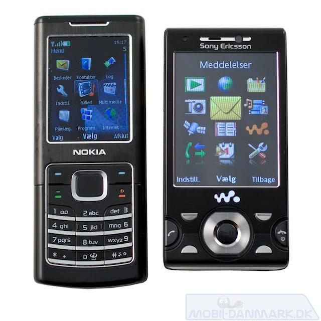 Nokia 6500 Classic ser stor ud ved siden af W995