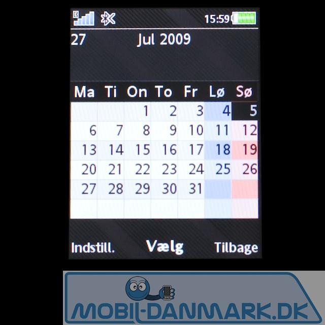 Kalenderen, der fungerer ganske godt