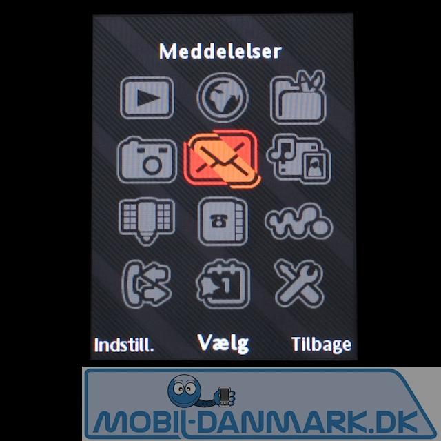 På W995 kan menuen viser på forskellige måder