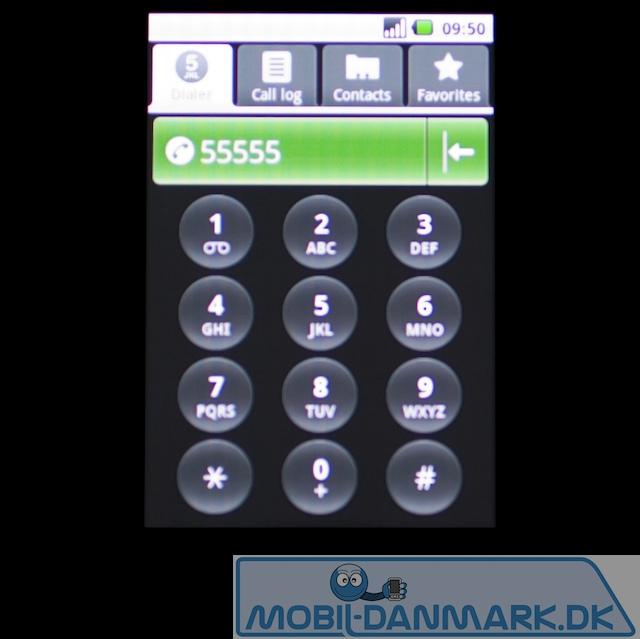Numerisk tastatur til opkald