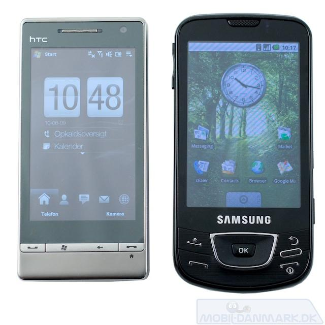 Galaxy ved siden af HTC Touch Diamond 2