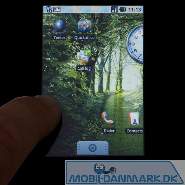 Her er magic-skærmen med en grøn baggrund