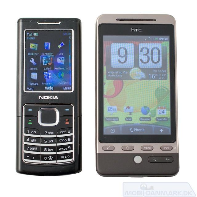Hero ved siden af Nokia 6500 Classic