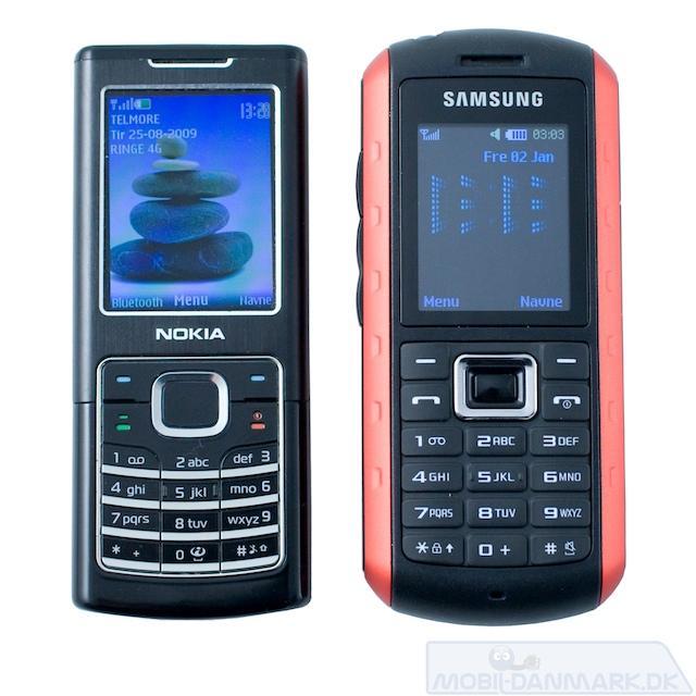 Nokia 6500 ved siden af B2100