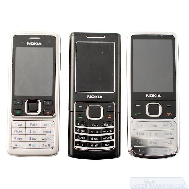 Her ses Nokia 6300, 6500 og 6700
