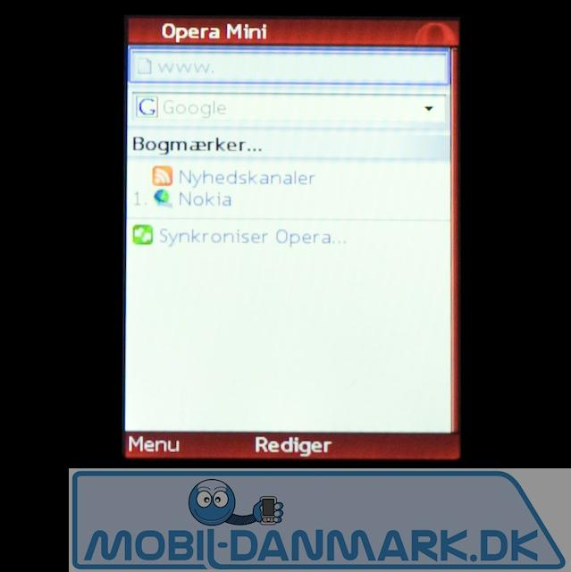 Opera Mini-browseren er også med fra start