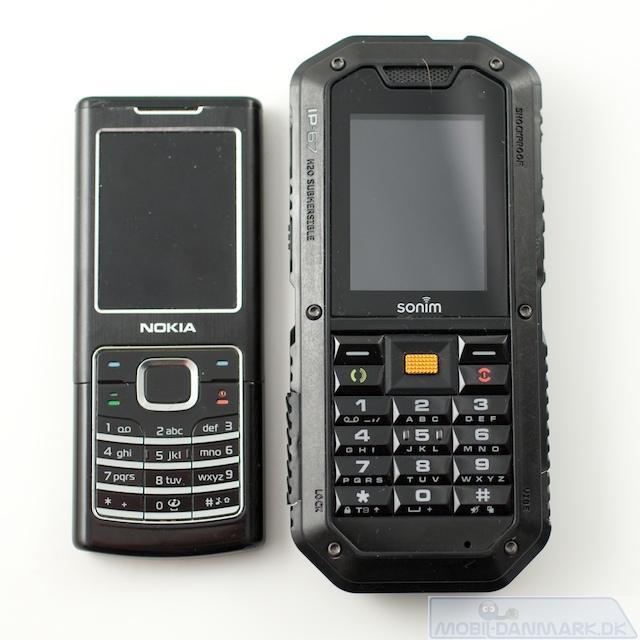 XP2.10 ved siden af Nokia 6500