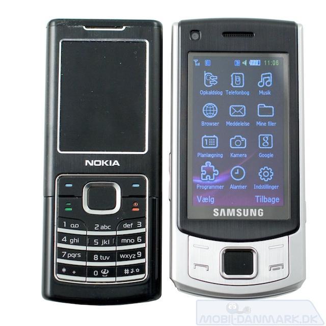 S7350 ved siden af Nokia 6500 Classic