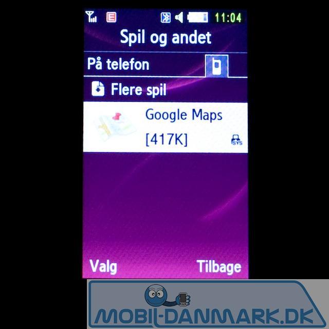 Desværre er der ikke rigtig navigationssoftware