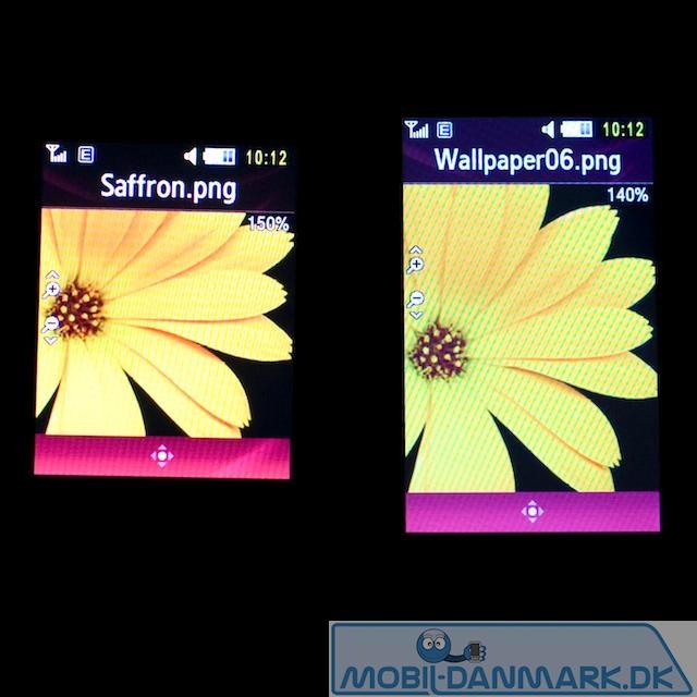 S7350 ved siden af en OLED-skærm (S7220)