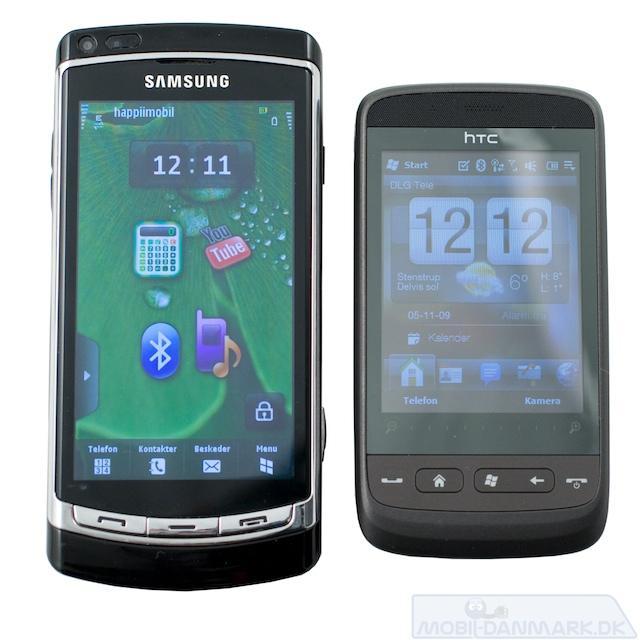 Touch2 ved siden af den store Samsung Omnia HD