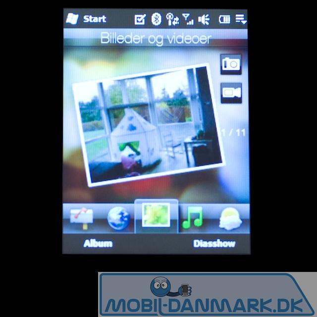 Billedmenuen - her kan man se fotos eller gå til kameramenuen