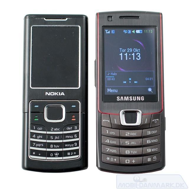 S7220 ved siden af Nokia 6500 Classic