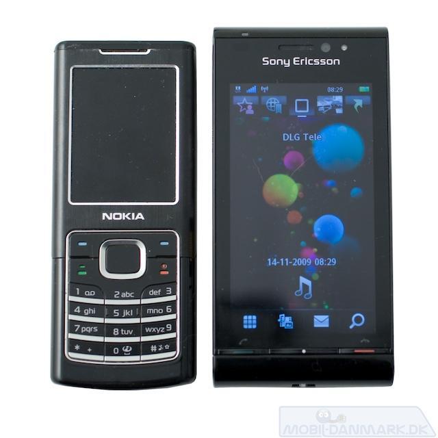 Satio ved siden af Nokia 6500 Classic