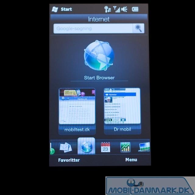 HTC webmenu