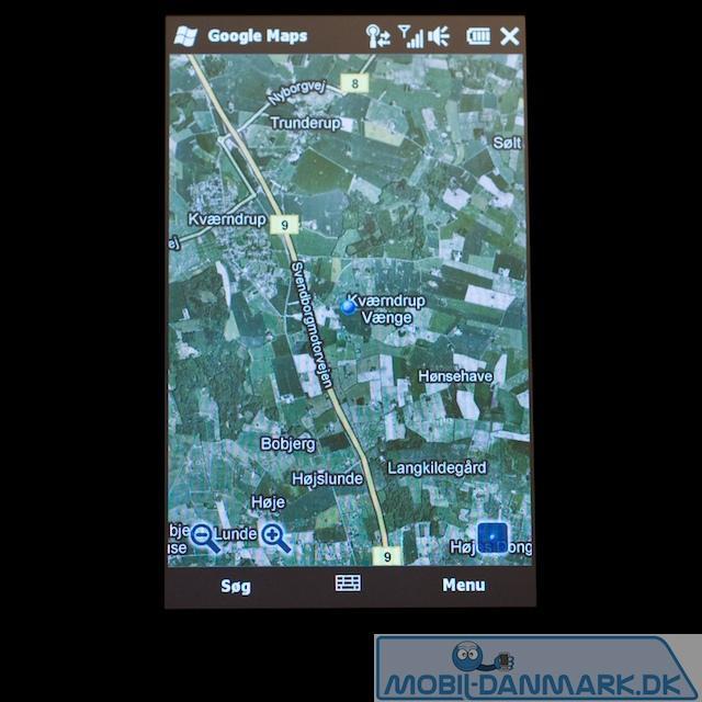 Her med satelitkort